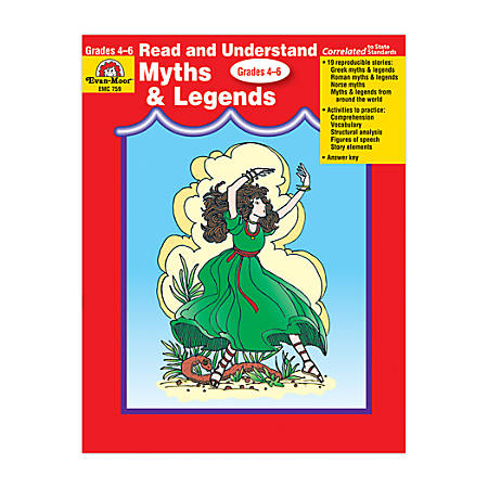 Evan-Moor® Read And Understand Literature Genres, Myths And Legends, Grades 4-6