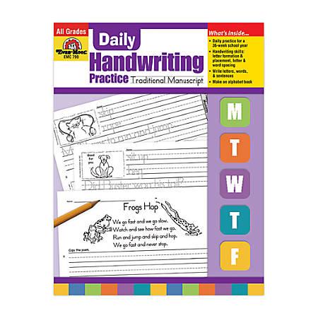 Evan-Moor® Daily Handwriting Practice, Traditional Manuscript
