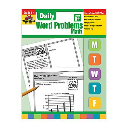 Evan-Moor® Daily Word Problems, Grade 6