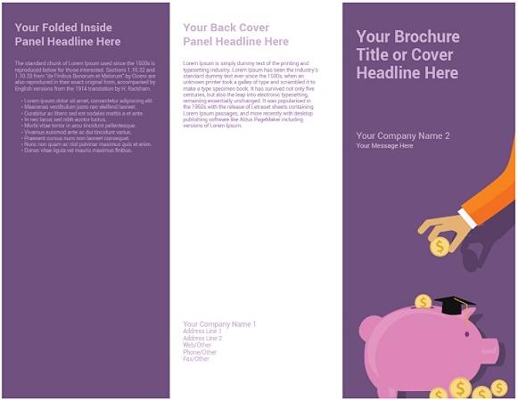 Customizable Trifold Brochure, Savings