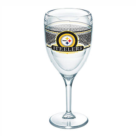 Tervis NFL Select Wine Glass, 9 Oz, Pittsburgh Steelers