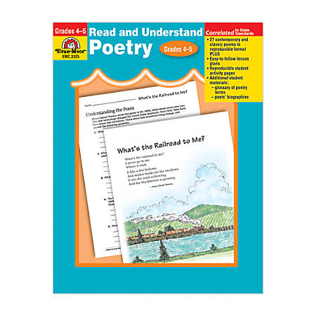 Evan-Moor® Read And Understand Poetry, Grades 4-5