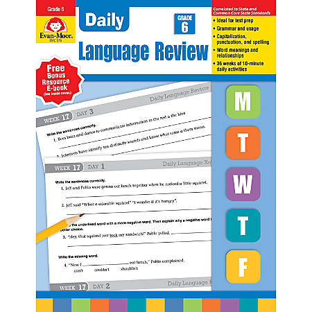 Evan-Moor® Daily Language Review, Grade 6