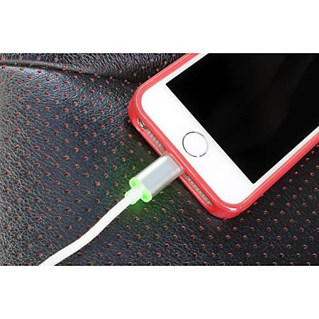 VisionTek Lightning to USB Smart LED 6.6 foot - 2 meter MFI Cable
