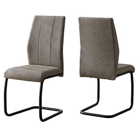 Monarch Specialties Sebastian Dining Chairs, Taupe/Black, Set Of 2 Chairs