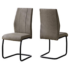 Monarch Specialties Sebastian Dining Chairs TaupeBlack