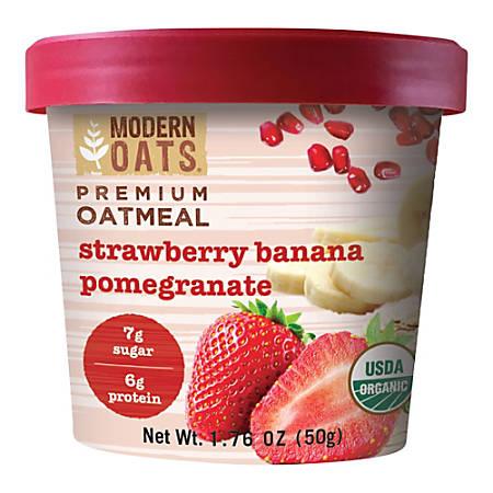 Modern Oats Organic Premium Oatmeal Cups, Strawberry Banana Pomegranate, 1.78 Oz, Pack Of 12