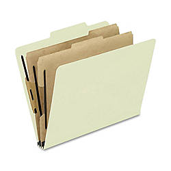 Oxford Pressboard Classification Folders Letter Size