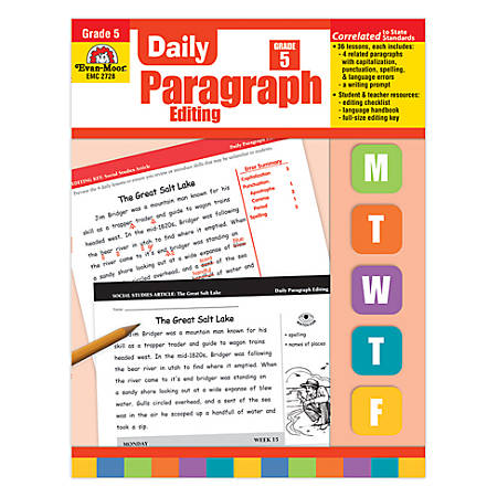 Evan-Moor® Daily Paragraph Editing, Grade 5