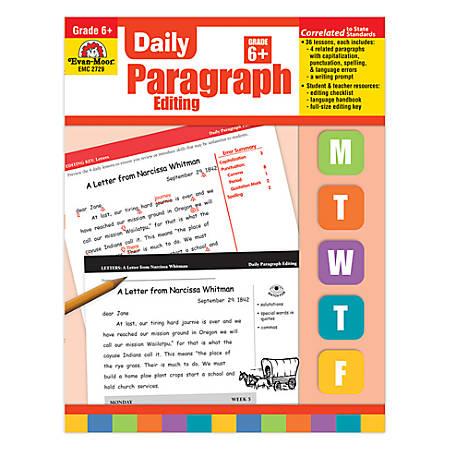 Evan-Moor® Daily Paragraph Editing, Grade 6