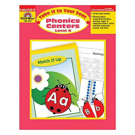 Evan-Moor® Take It To Your Seat Phonics Centers, Level A, Grades PreK-K