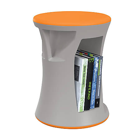 MooreCo Hiearchy Flipz Stacking Rocking Stool, Gray/Orange