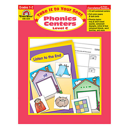 Evan-Moor® Take It To Your Seat Phonics Centers, Level C, Grades 1-2