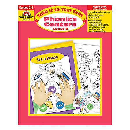 Evan-Moor® Take It To Your Seat Phonics Centers, Level D, Grades 2-3