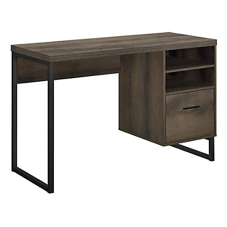 Wondrous Ameriwood Home Candon Desk Medium Brown Item 6582798 Home Interior And Landscaping Ologienasavecom