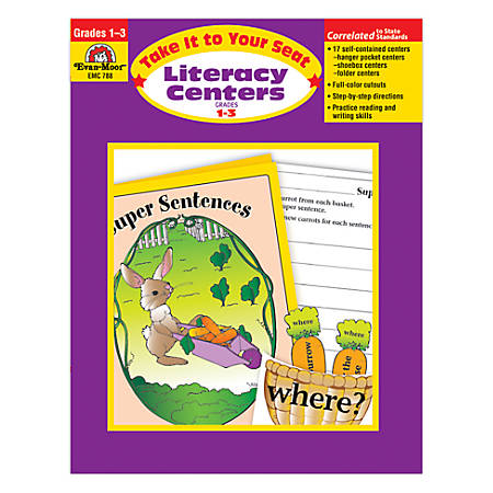 Evan-Moor® Take It To Your Seat Literacy Centers, Grades 1-3