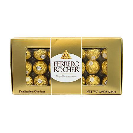 Ferrero Rocher Roasted Hazelnut Chocolates, 18-Piece Gift Box, 7.9 Oz