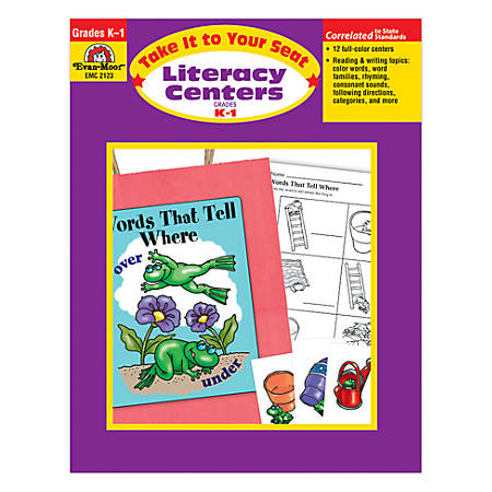 Evan-Moor® Take It To Your Seat Literacy Centers, Grades K-1