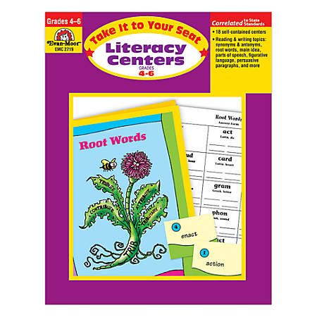 Evan-Moor® Take It To Your Seat Literacy Centers, Grades 4-6