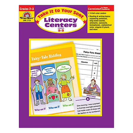 Evan-Moor® Take It To Your Seat Literacy Centers, Grades 2-3