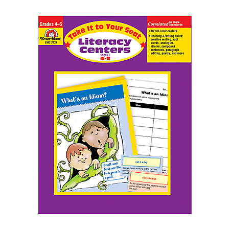 Evan-Moor® Take It To Your Seat Literacy Centers, Grades 4-5