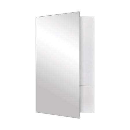 "LUX Presentation Folders, 9"" x 14 1/2"", White Gloss, Pack Of 25 Folders"