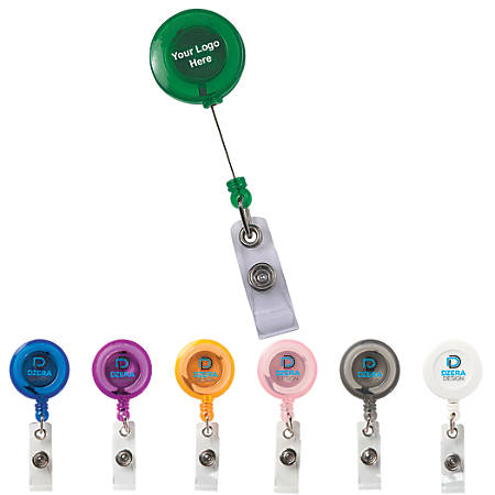 Round Secure A Badge Reel