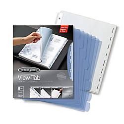 Wilson Jones View Tab Transparent Dividers