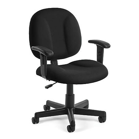 OFM Comfort Series Superchair Mid-Back Task Chair, Black/Black