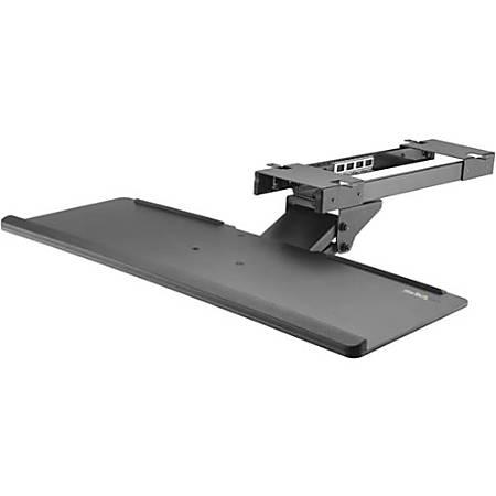 StarTech.com Under Desk Keyboard Tray - Adjustable - Keyboard Drawer - Computer Keyboard Stand - Keyboard Shelf 26.4in W - Keyboard Shelf