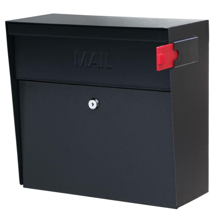 Mail Boss Metro Mail Wall Mount Locking Mailbox 14 34 H X 15 25 W X 7 18 D  Black By Office Depot U0026 OfficeMax