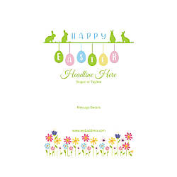 Adhesive Sign Vertical Happy Easter