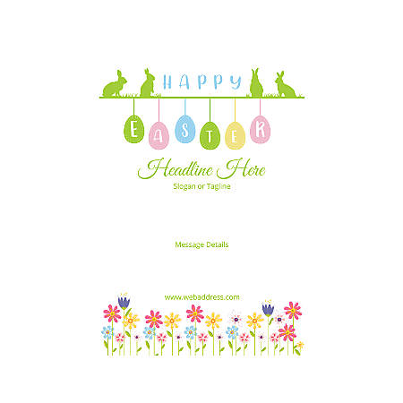 Adhesive Sign, Vertical, Happy Easter