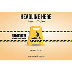 Adhesive Sign Under Construction Horizontal