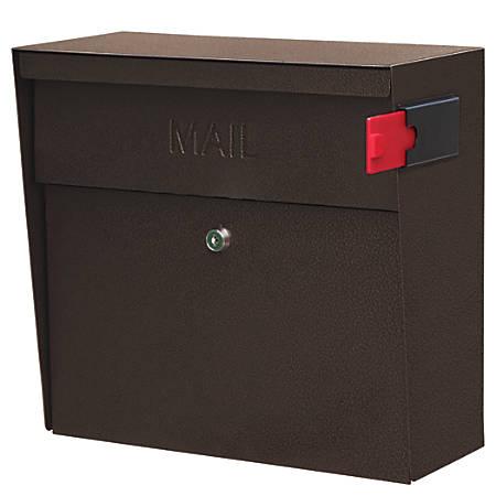 "Mail Boss™ Metro Mail Wall Mount Locking Mailbox, 14 3/4""H x 15 2/5""W x 7 1/8""D, Bronze"