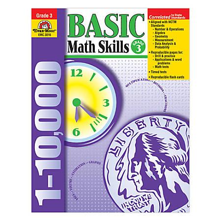 Evan-Moor® Basic Math Skills, Grade 3