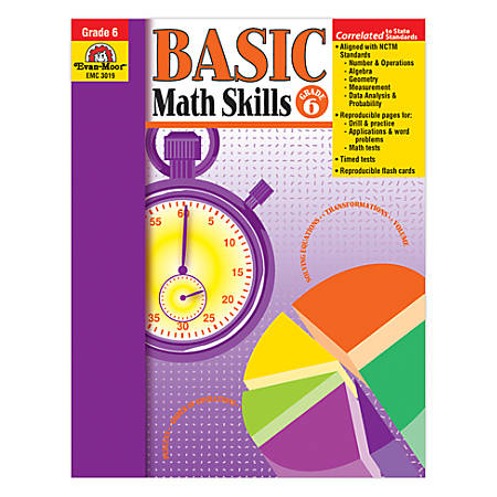 Evan-Moor® Basic Math Skills, Grade 6