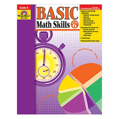 Evan-Moor® Basic Math Skills, Grade 6