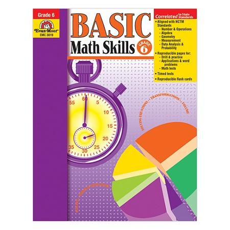 Evan-Moor® Basic Math Skills, Grade 6 Item # 658825