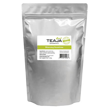 Teaja Organic Loose-Leaf Tea, Morning Sunshine, 8 Oz Bag