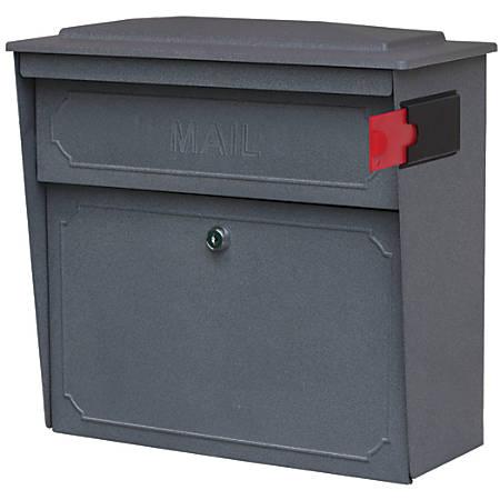 """Mail Boss™ Townhouse Wall Mount Locking Mailbox, 16""""H x 15 3/4""""W x 7 1/2""""D, Granite"""