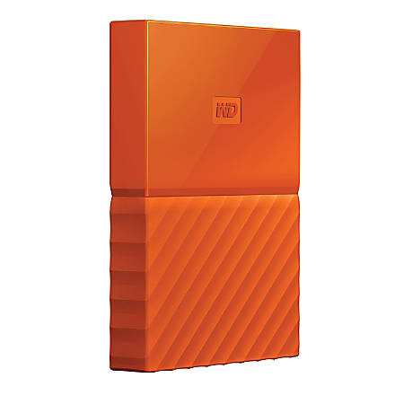 WD My Passport™ 1TB Portable External Hard Drive, USB 2.0/3.0, WDBYNN0010BOR-WESN, Orange