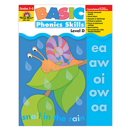 Evan-Moor® Basic Phonics Skills, Level D, Grades 2-3 Item # 658860
