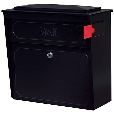 """Mail Boss™ Townhouse Wall Mount Locking Mailbox, 16""""H x 15 3/4""""W x 7 1/2""""D, Black"""