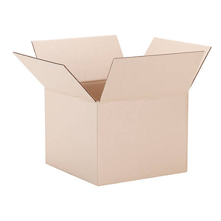 """Moving And Shipping Box, 12"""" x 12"""" x 9"""", Brown"""