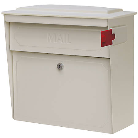 "Mail Boss™ Townhouse Wall Mount Locking Mailbox, 16""H x 15 3/4""W x 7 1/2""D, White"