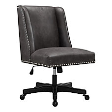 Linon Cooper Mid Back Chair GrayBlack