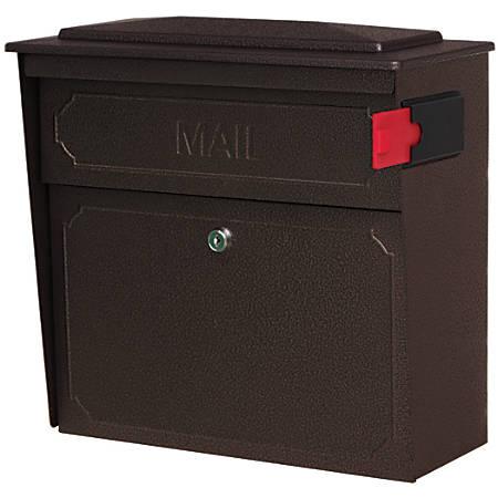 "Mail Boss™ Townhouse Wall Mount Locking Mailbox, 16""H x 15 3/4""W x 7 1/2""D, Bronze"