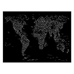 Trademark fine art giclee print on canvas font world map iii by trademark fine art giclee print on canvas font world map iii by michael tompsett gumiabroncs Image collections