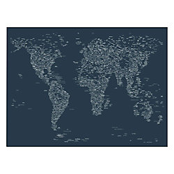 Trademark fine art giclee print on canvas font world map vi by trademark fine art giclee print on canvas font world map vi by michael tompsett gumiabroncs Images